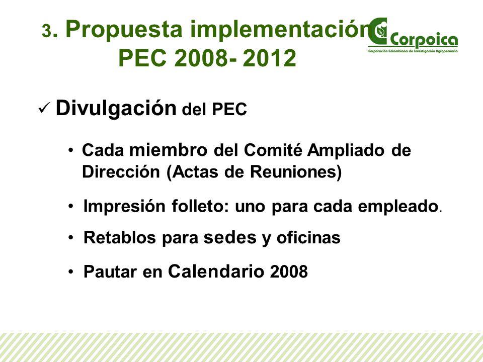 3. Propuesta implementación PEC 2008- 2012