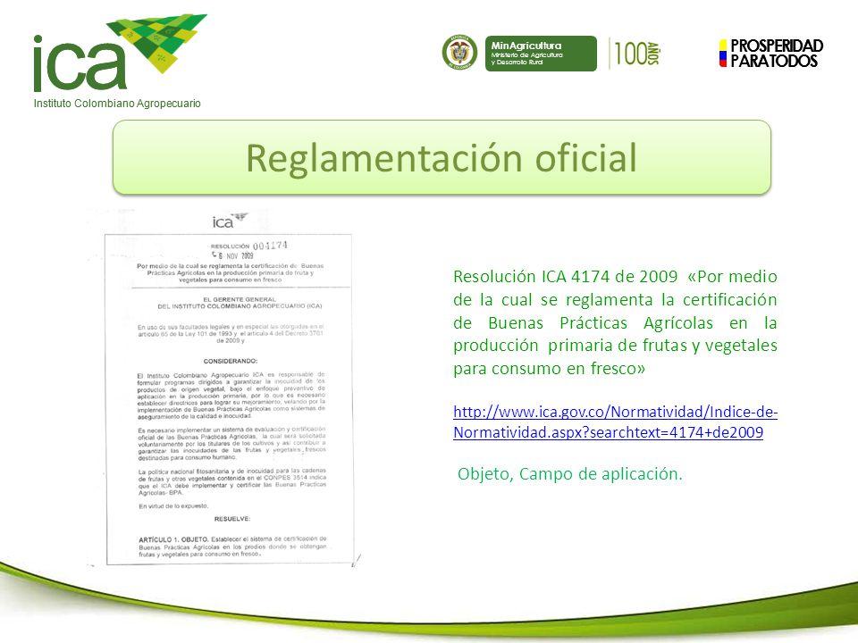 Reglamentación oficial