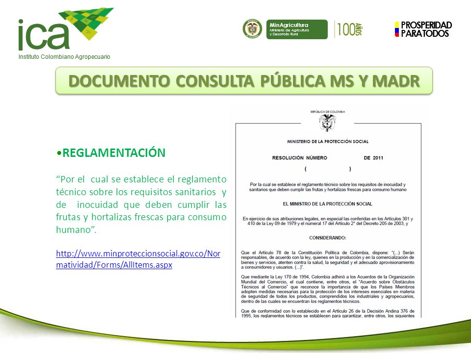 DOCUMENTO CONSULTA PÚBLICA MS Y MADR