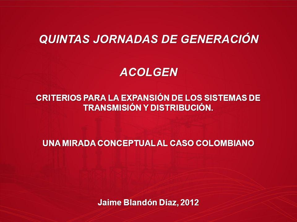 QUINTAS JORNADAS DE GENERACIÓN ACOLGEN