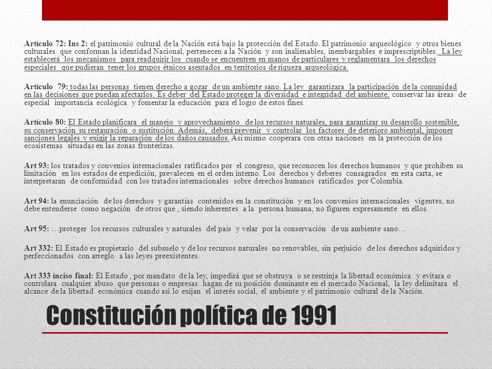 Constitución política de 1991