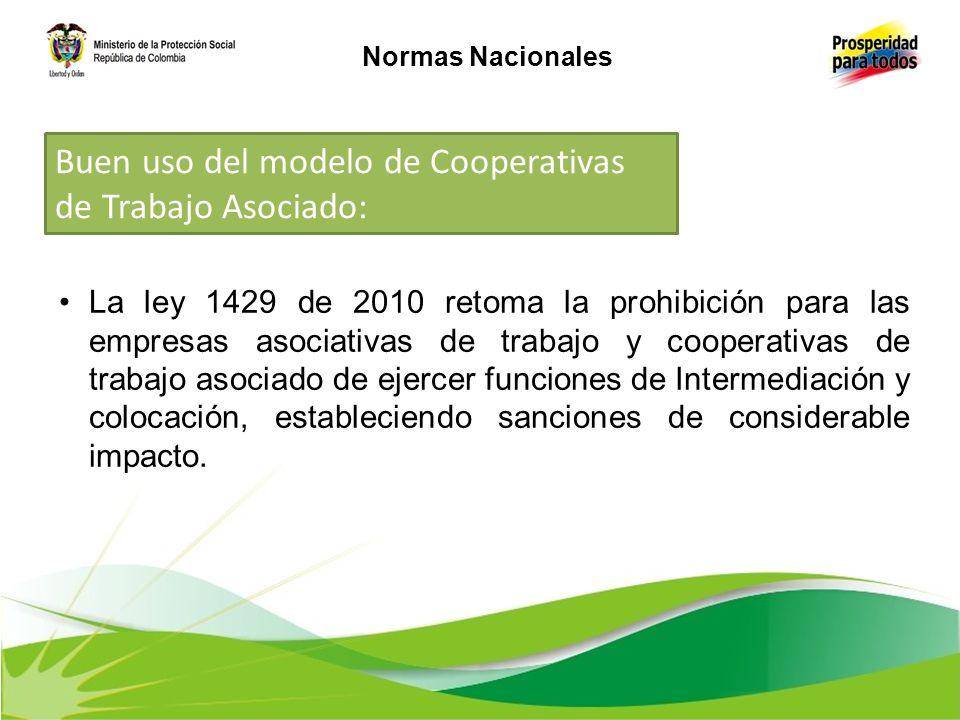 Buen uso del modelo de Cooperativas de Trabajo Asociado: