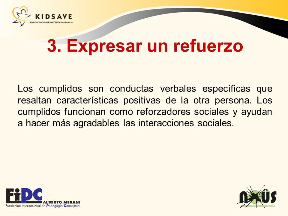 3. Expresar un refuerzo