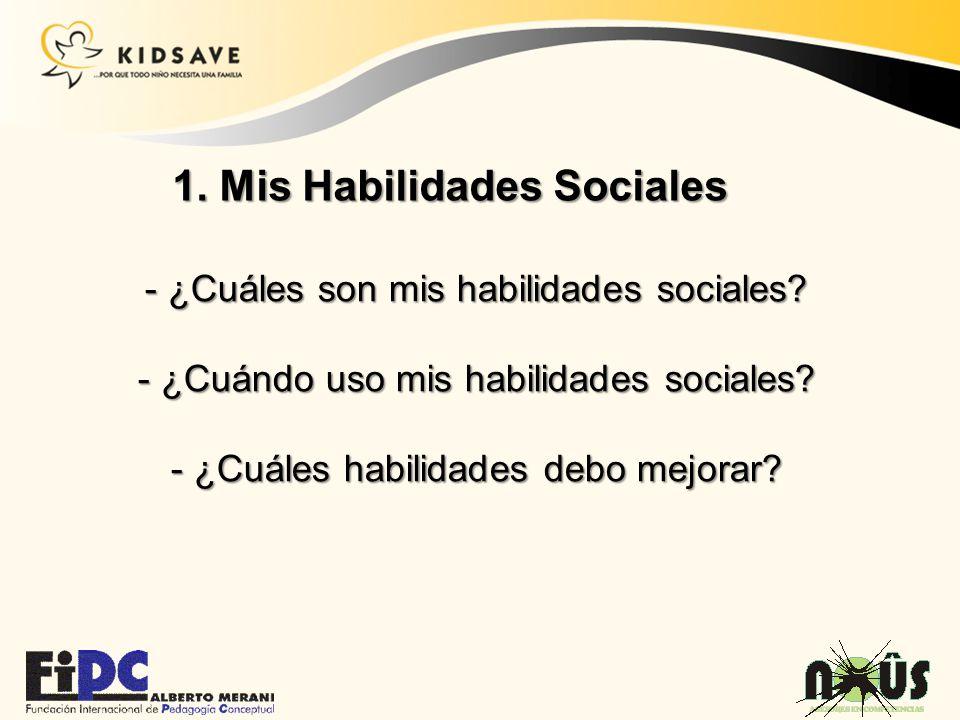 1. Mis Habilidades Sociales