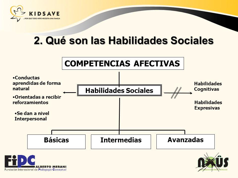 2. Qué son las Habilidades Sociales