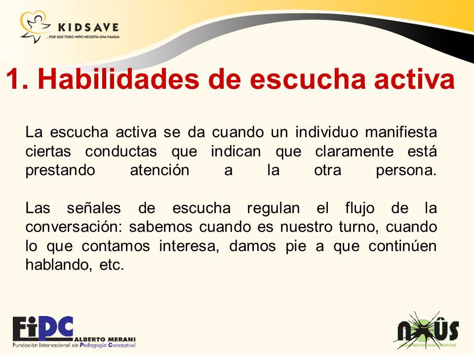 1. Habilidades de escucha activa