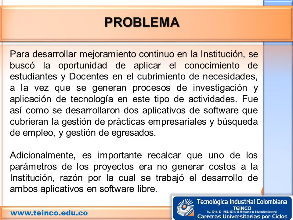 PROBLEMA www.teinco.edu.co.