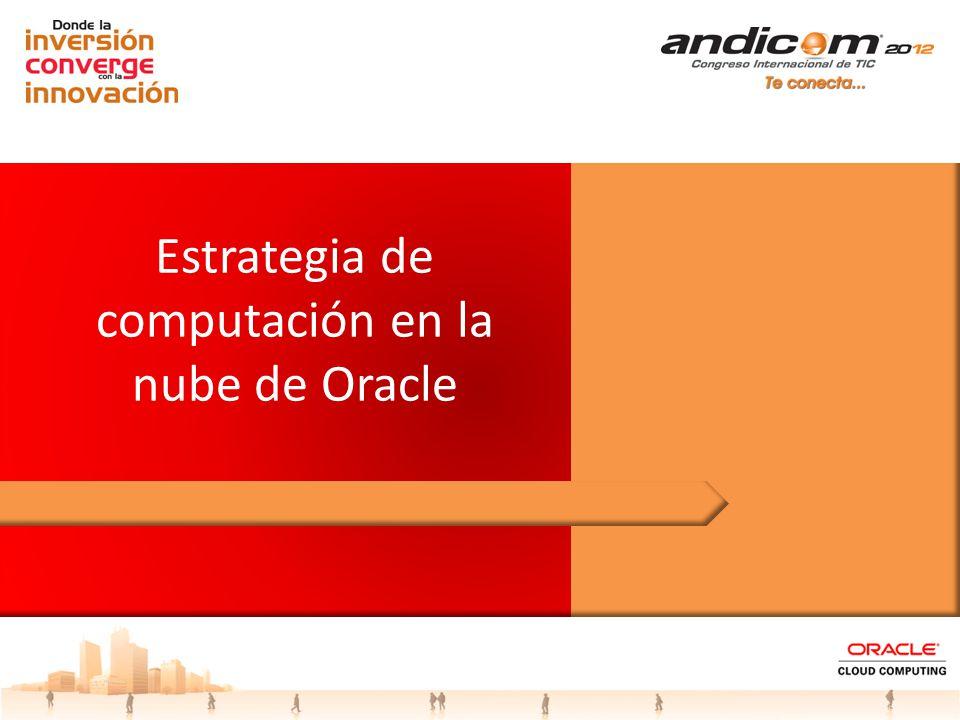 Estrategia de computación en la nube de Oracle