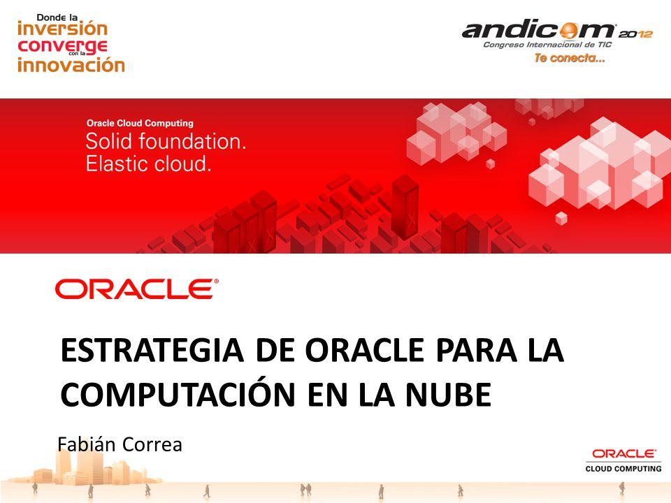 Estrategia DE ORACLE para la computación en la nube