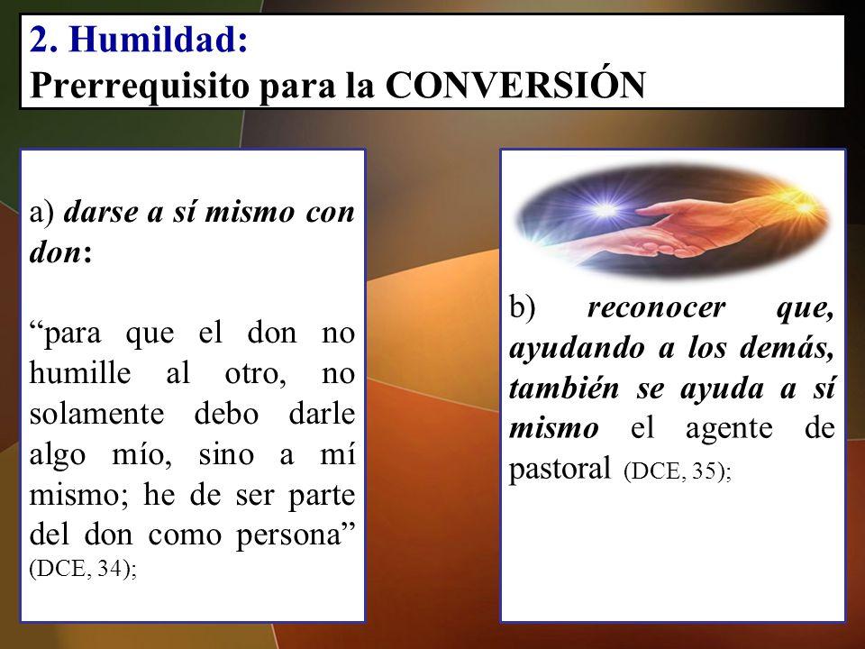 2. Humildad: Prerrequisito para la CONVERSIÓN