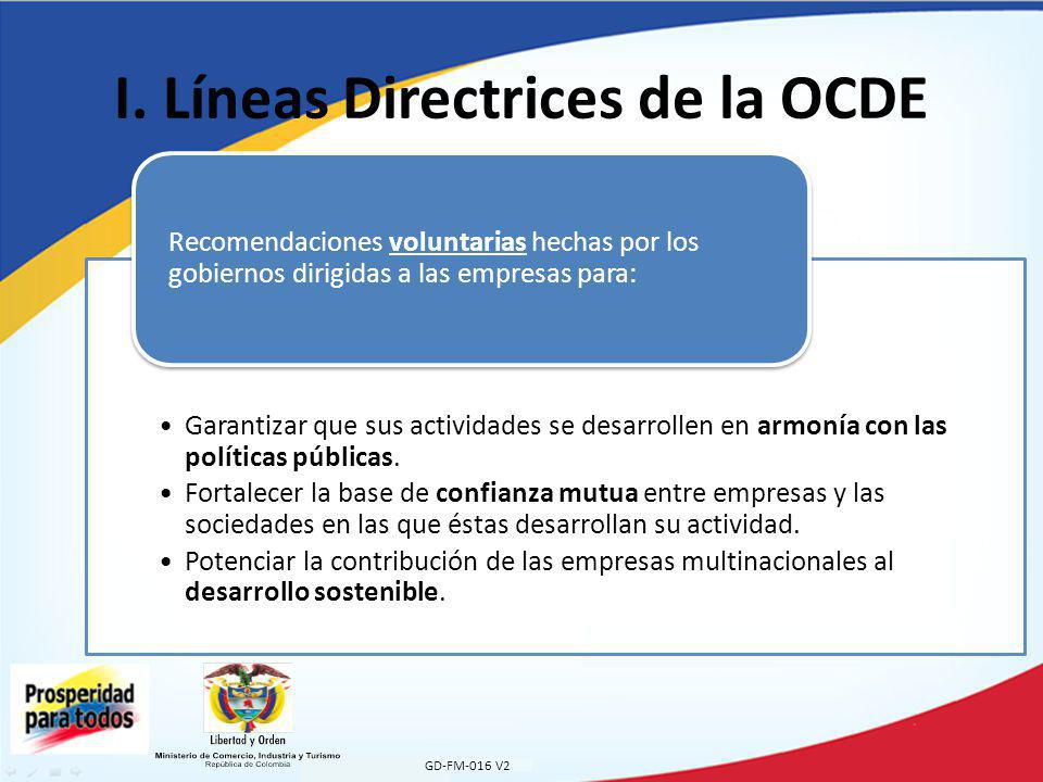 I. Líneas Directrices de la OCDE