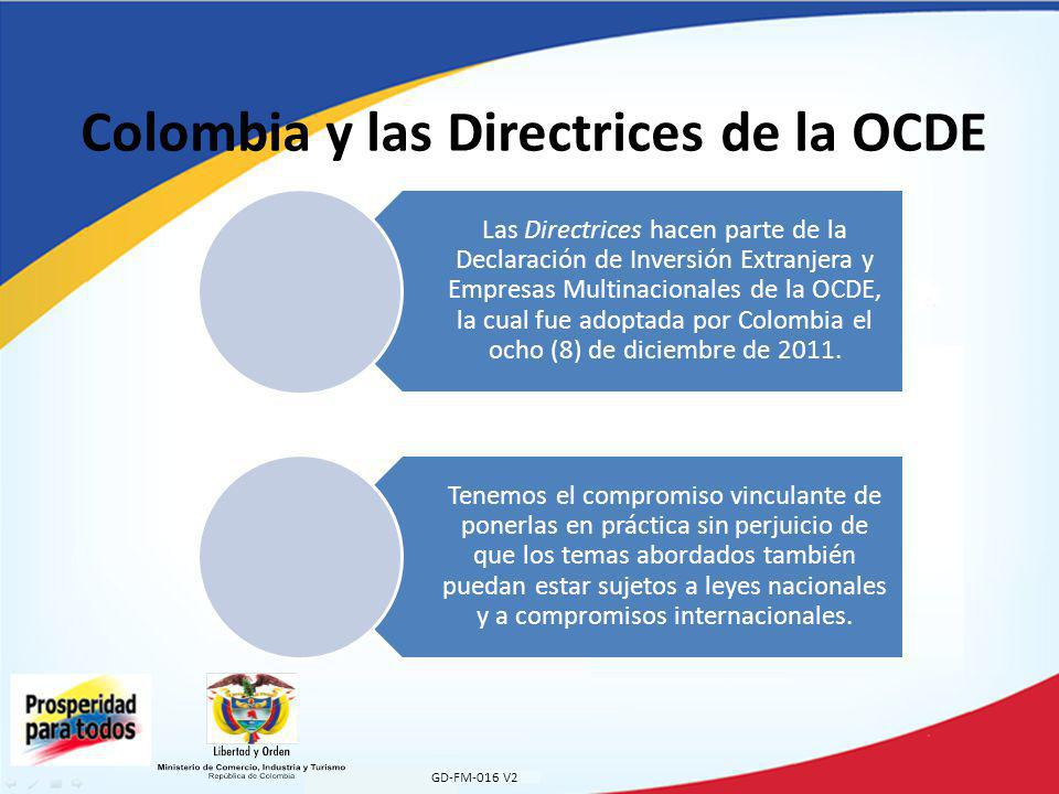 Colombia y las Directrices de la OCDE