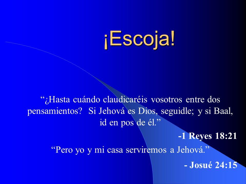 Pero yo y mi casa serviremos a Jehová.