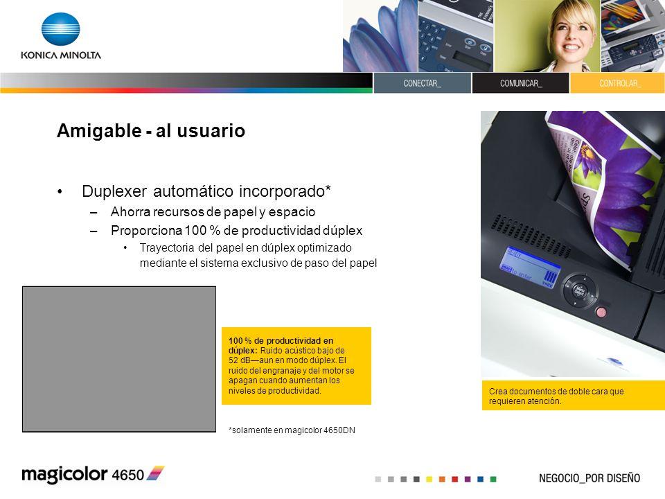 Amigable - al usuario Duplexer automático incorporado*
