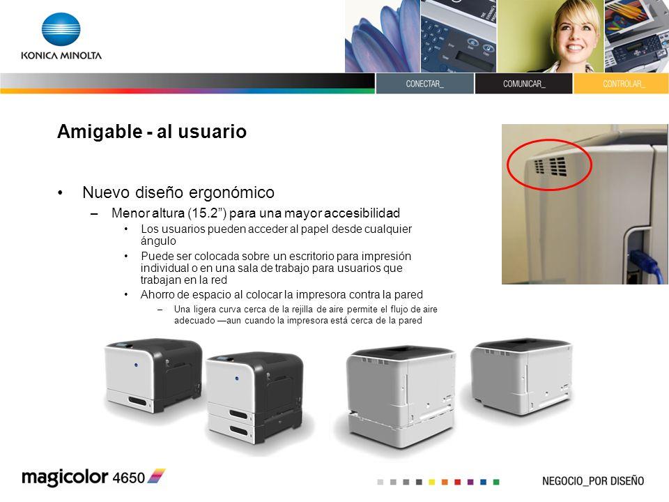 Amigable - al usuario Nuevo diseño ergonómico