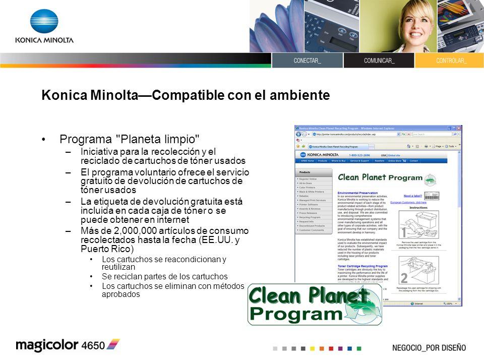 Konica Minolta—Compatible con el ambiente