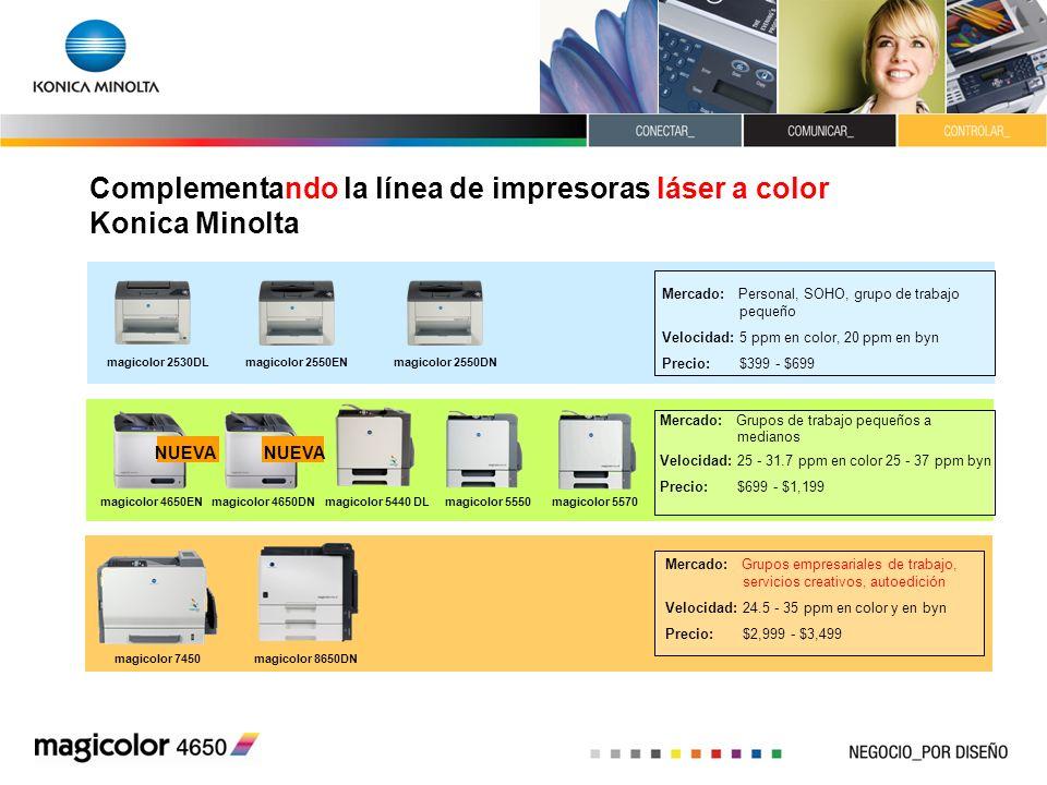 Complementando la línea de impresoras láser a color Konica Minolta