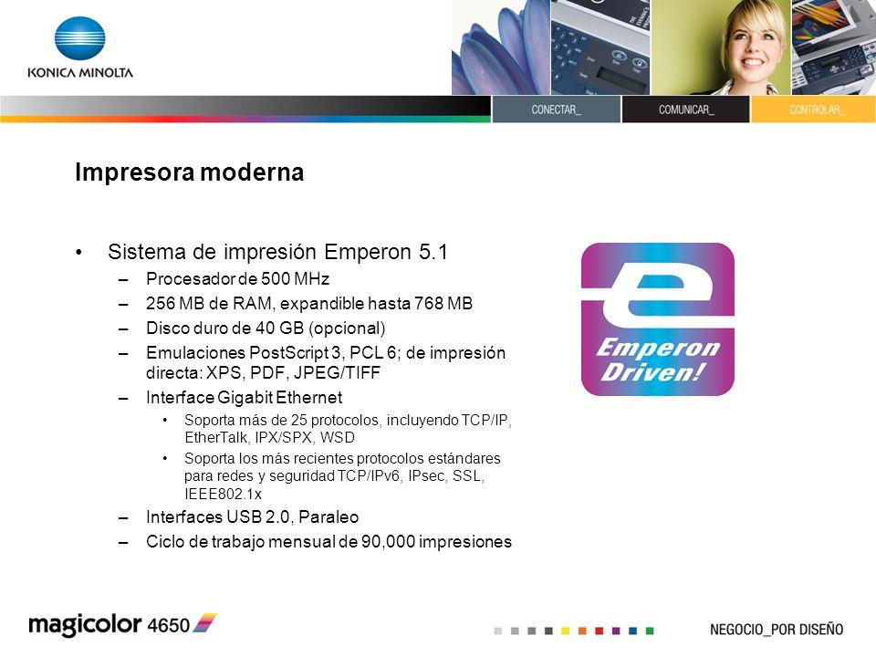 Impresora moderna Sistema de impresión Emperon 5.1