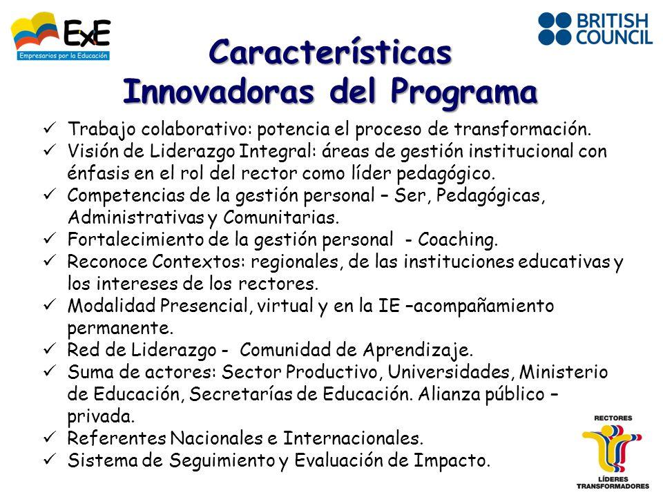 Innovadoras del Programa