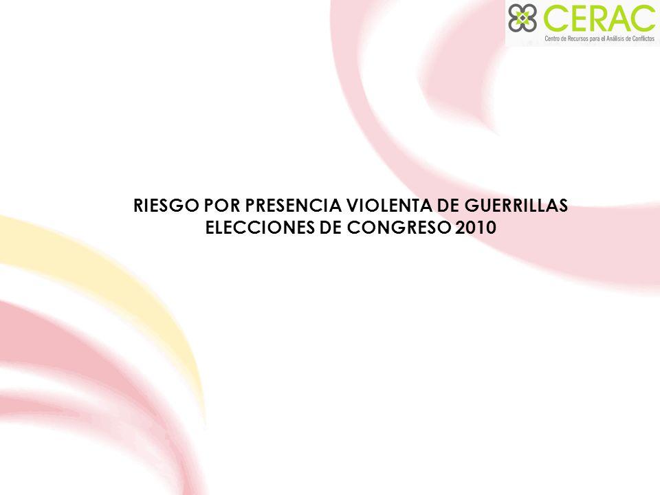 RIESGO POR PRESENCIA VIOLENTA DE GUERRILLAS