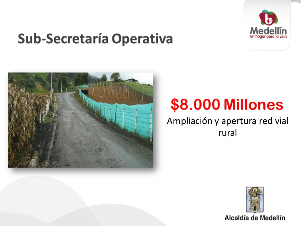 Ampliación y apertura red vial rural