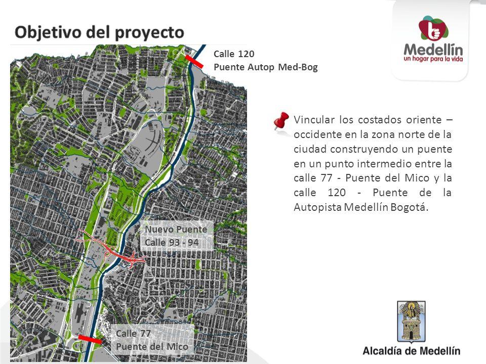 Objetivo del proyecto Calle 120. Puente Autop Med-Bog.