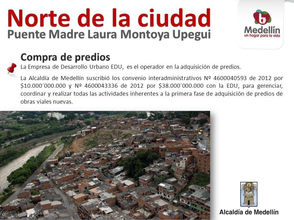 Norte de la ciudad Puente Madre Laura Montoya Upegui Compra de predios