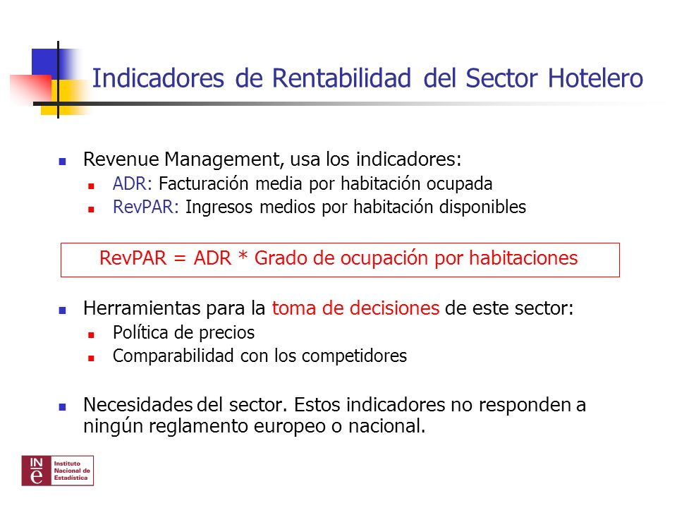 Indicadores de Rentabilidad del Sector Hotelero