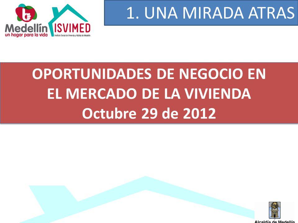 1. UNA MIRADA ATRAS OPORTUNIDADES DE NEGOCIO EN EL MERCADO DE LA VIVIENDA Octubre 29 de 2012