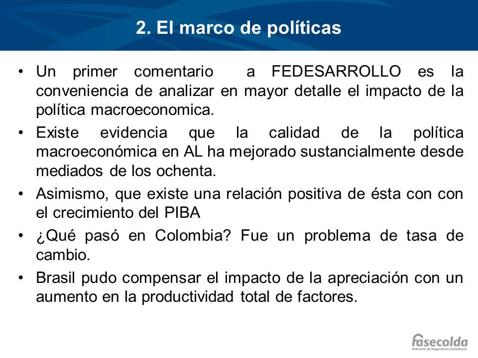 2. El marco de políticas