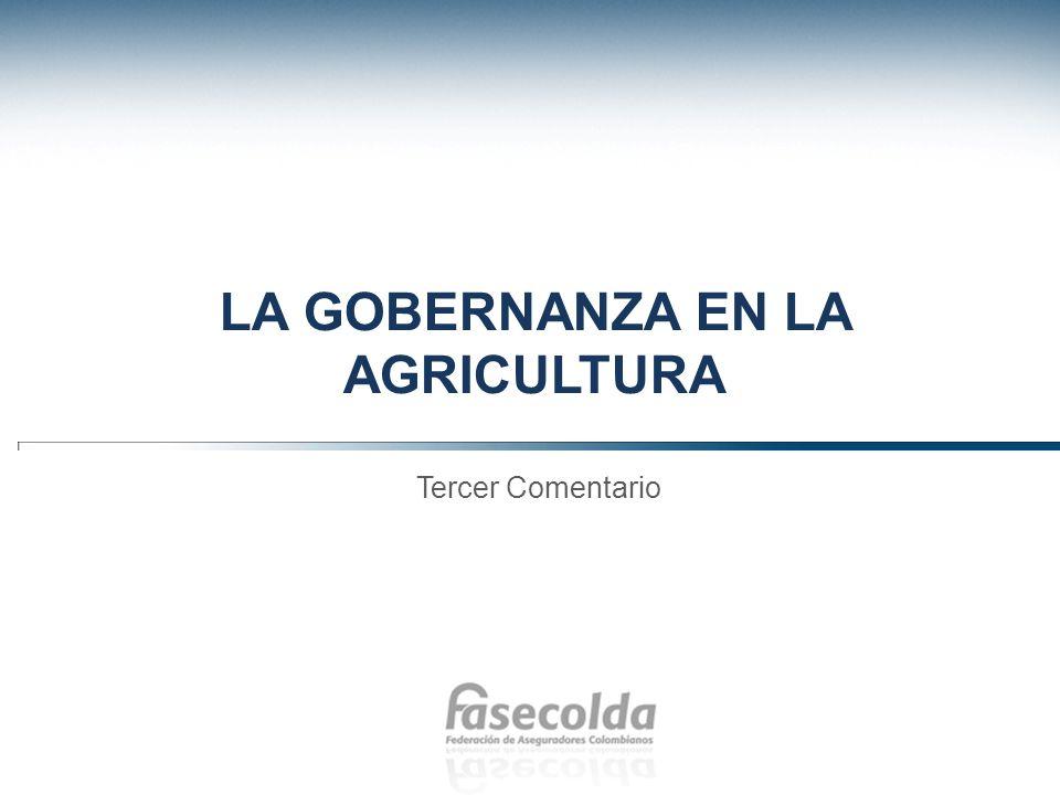 La Gobernanza en la Agricultura