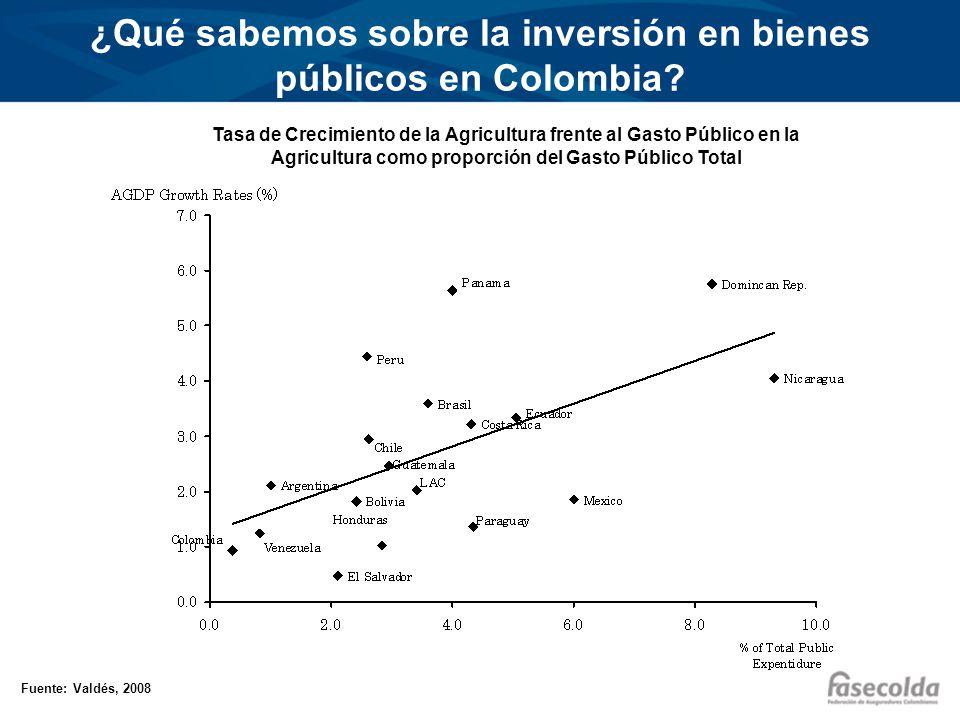 ¿Qué sabemos sobre la inversión en bienes públicos en Colombia