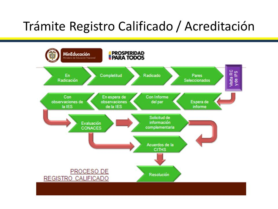 Trámite Registro Calificado / Acreditación