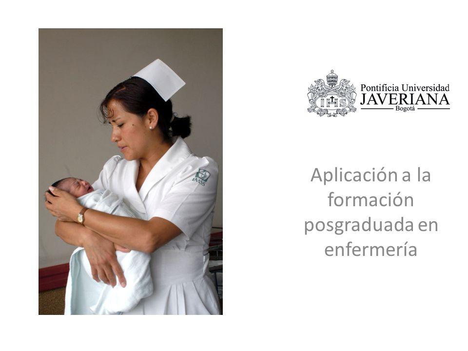 Aplicación a la formación posgraduada en enfermería