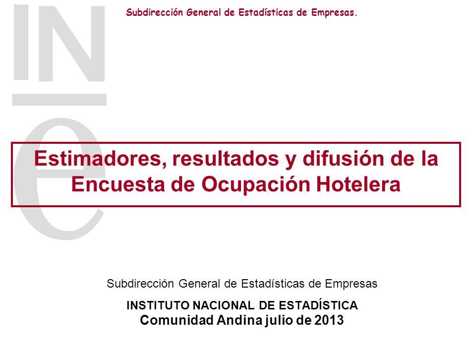 INSTITUTO NACIONAL DE ESTADÍSTICA Comunidad Andina julio de 2013