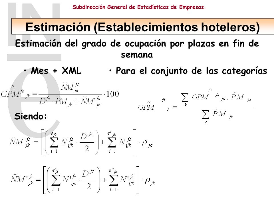 Estimación (Establecimientos hoteleros)