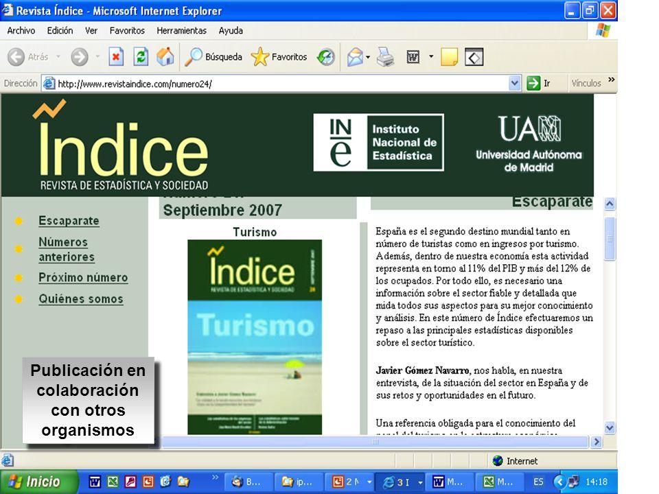 Publicación en colaboración con otros organismos