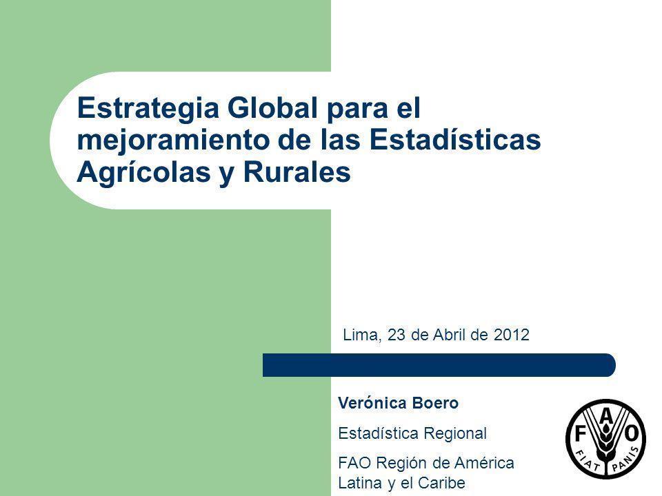 Estrategia Global para el mejoramiento de las Estadísticas Agrícolas y Rurales