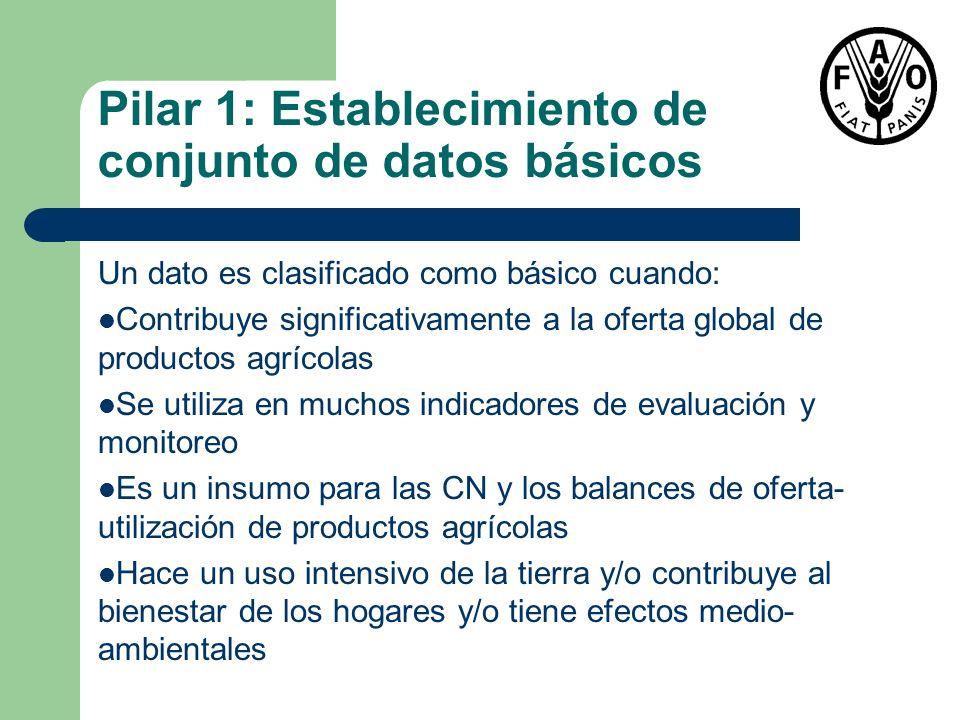 Pilar 1: Establecimiento de conjunto de datos básicos