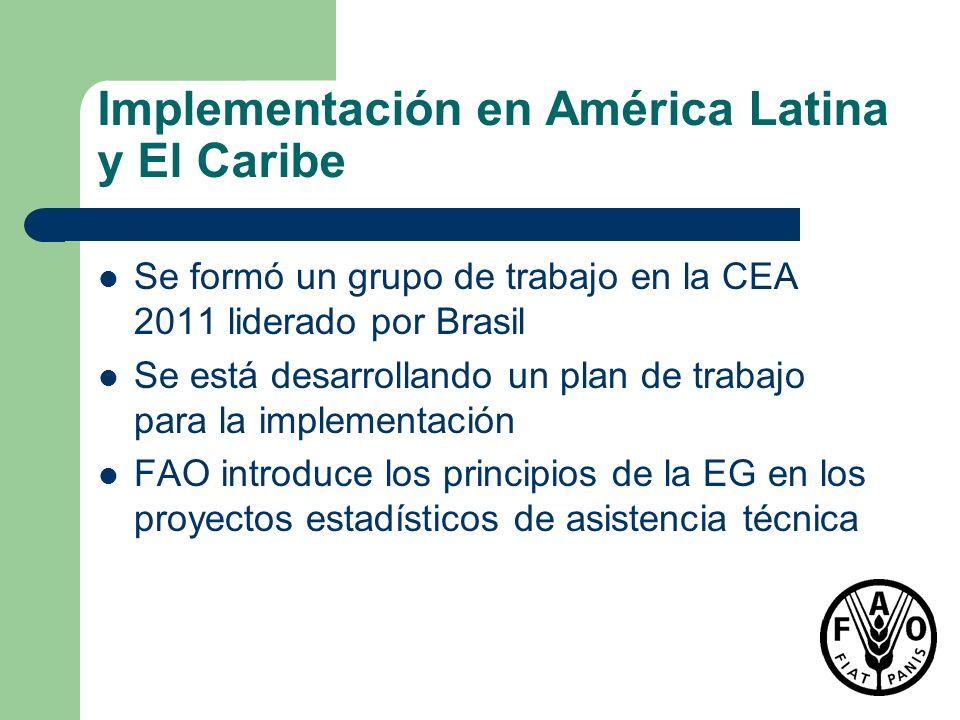 Implementación en América Latina y El Caribe