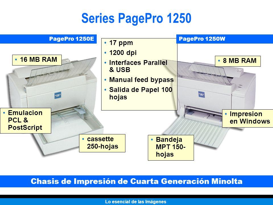 Chasis de Impresión de Cuarta Generación Minolta
