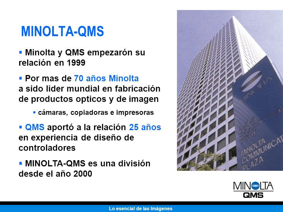 MINOLTA-QMS Minolta y QMS empezarón su relación en 1999
