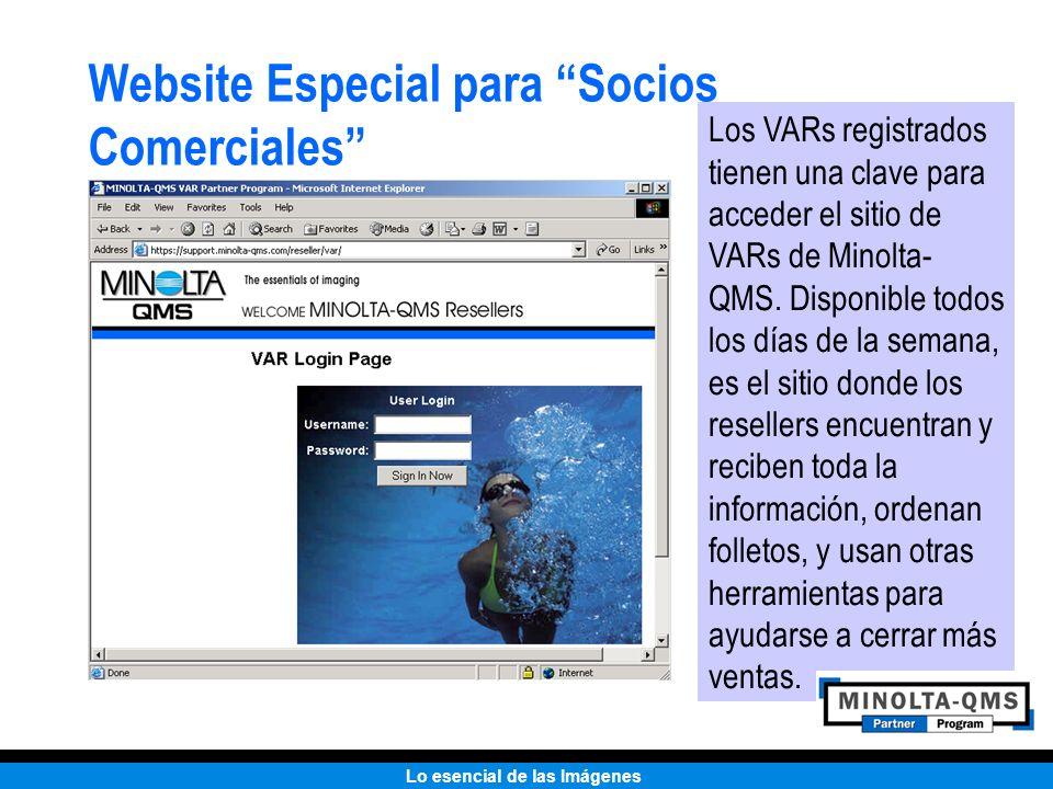 Website Especial para Socios Comerciales