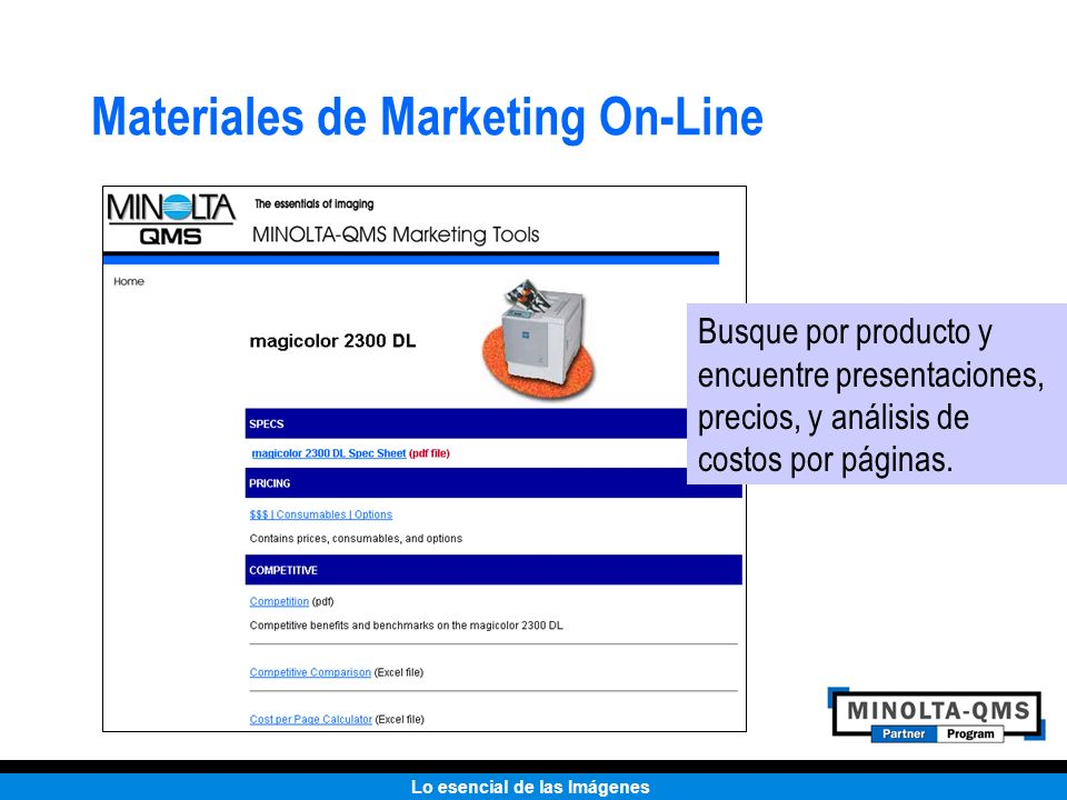 Materiales de Marketing On-Line