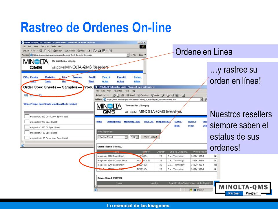 Rastreo de Ordenes On-line