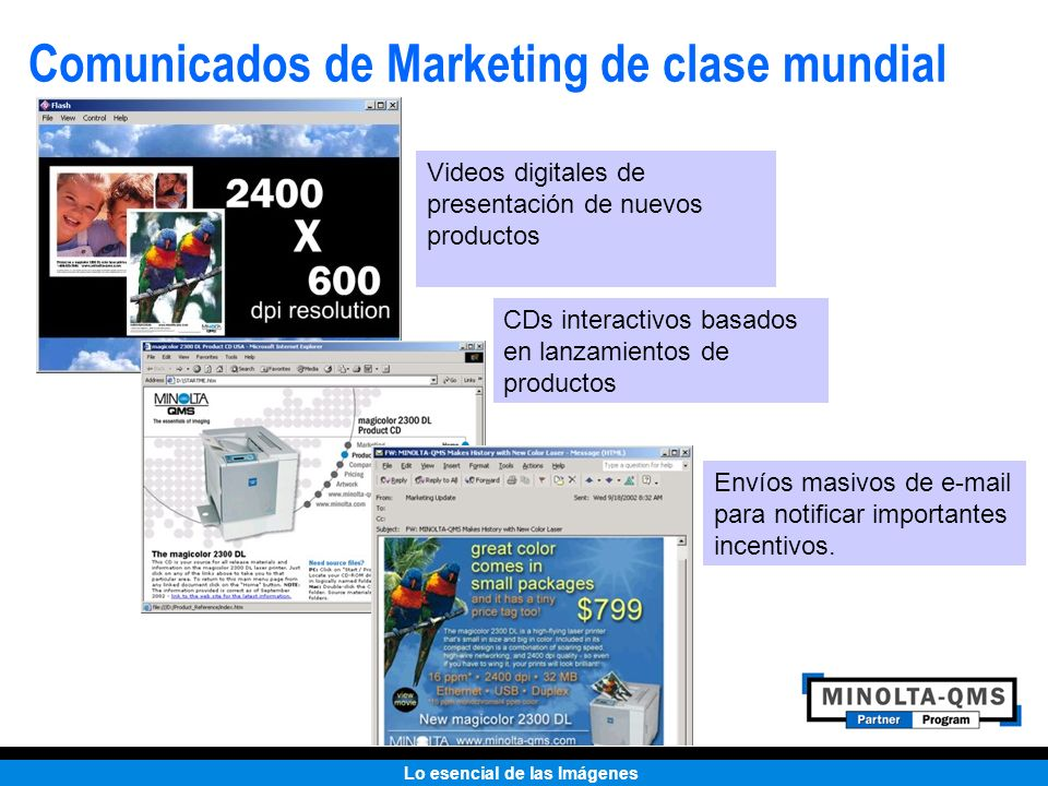Comunicados de Marketing de clase mundial