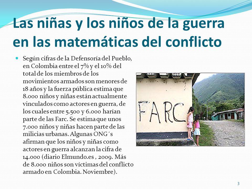 Las niñas y los niños de la guerra en las matemáticas del conflicto