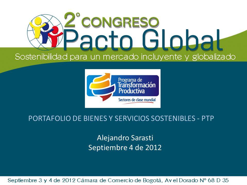 PORTAFOLIO DE BIENES Y SERVICIOS SOSTENIBLES - PTP
