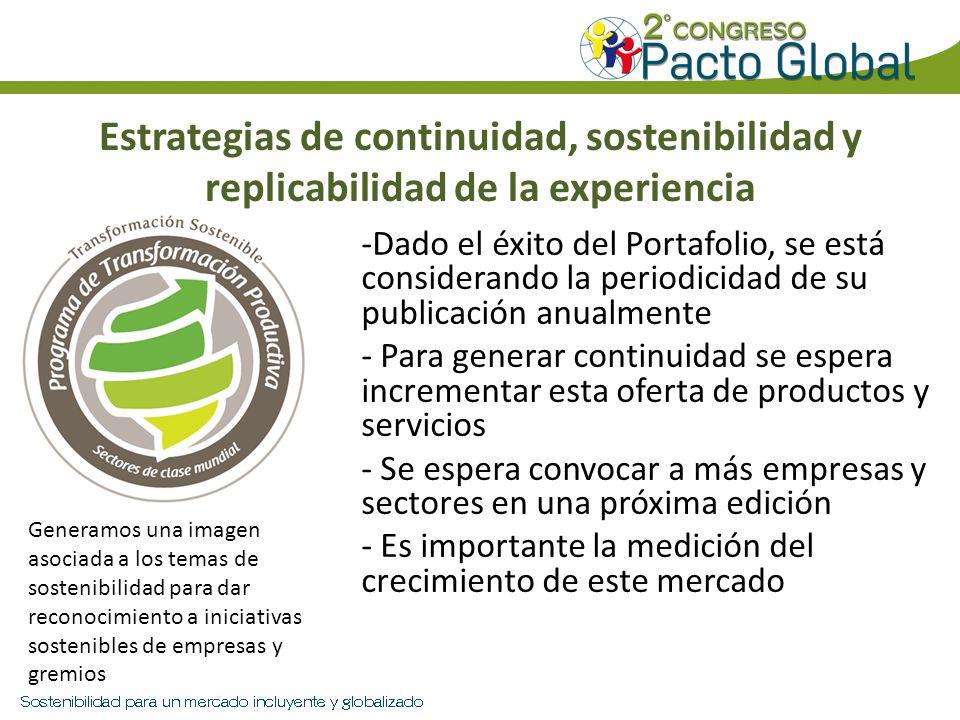 Estrategias de continuidad, sostenibilidad y replicabilidad de la experiencia