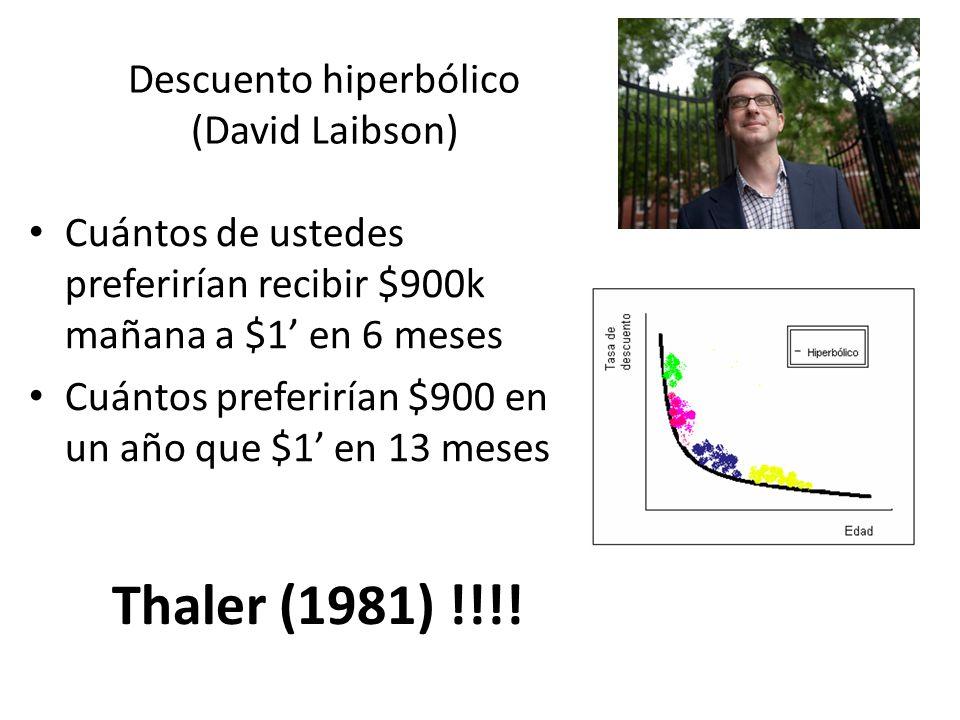 Descuento hiperbólico (David Laibson)